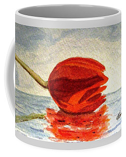 Coffee Mug featuring the painting Out To Sea by Angela Davies