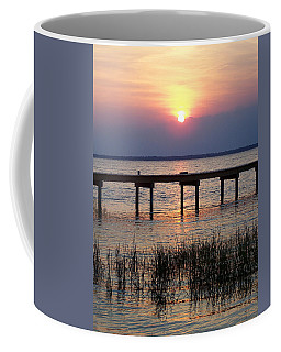 Coffee Mug featuring the photograph Outerbanks Nc Sunset by Sandi OReilly