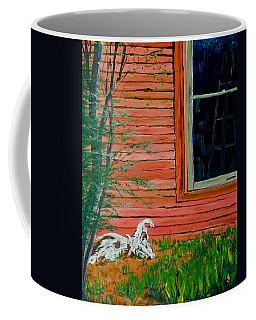 Outside The Artist's Studio Coffee Mug