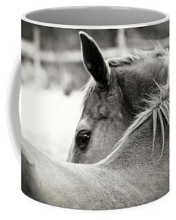 Over His Shoulder Coffee Mug