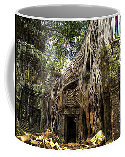 Coffee Mug featuring the photograph Overgrown Jungle Temple Tree  by Ericamaxine Price