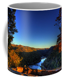 Coffee Mug featuring the photograph Overlook In The Fall by Jonny D