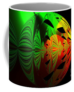 Art. Unigue Design.  Abstract Green Red And Black Coffee Mug