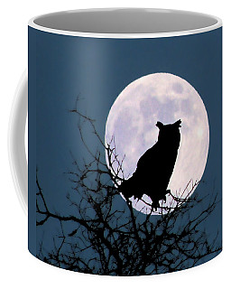 Owl And Blue Moon Coffee Mug