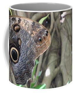 Owl Butterfly In Hiding Coffee Mug
