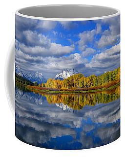 Oxbow Bend Peak Autumn Panorama Coffee Mug