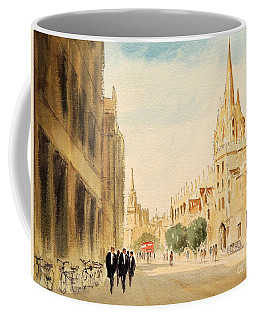 Coffee Mug featuring the painting Oxford High Street by Bill Holkham