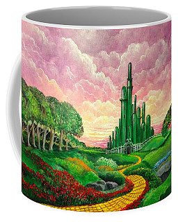 Coffee Mug featuring the painting Oz Revisited by Randol Burns