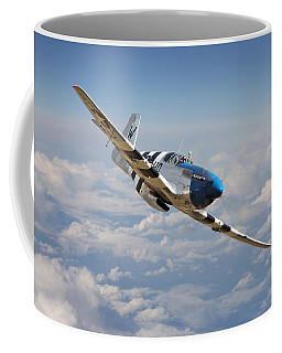 P51 Mustang - Symphony In Blue Coffee Mug