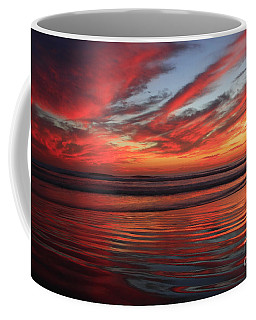 Coffee Mug featuring the photograph Oceanside Reflections by John F Tsumas