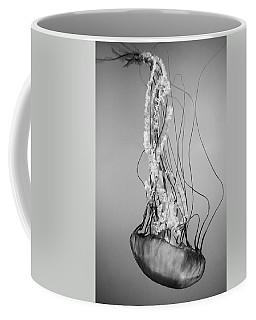 Pacific Sea Nettle - Black And White Coffee Mug