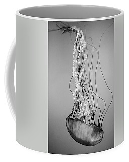Pacific Sea Nettle - Black And White Coffee Mug