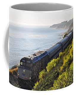 Pacific Surfliner Along The Central Coast Coffee Mug