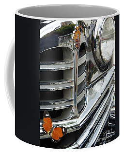 Coffee Mug featuring the photograph Packard Classic Grill by Bobbee Rickard
