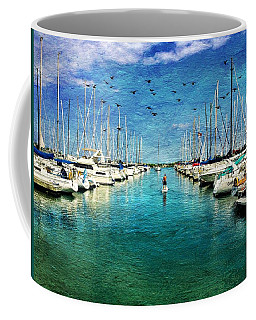 Paddle Boarder  In The Harbor Coffee Mug
