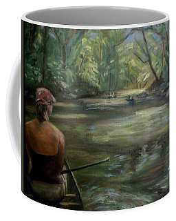 Coffee Mug featuring the painting Paddle Break by Donna Tuten