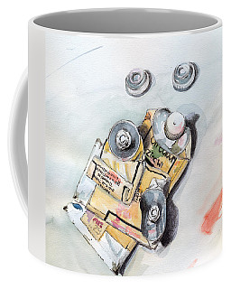Coffee Mug featuring the painting Paint Tubes by Katherine Miller