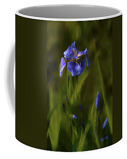 Painted Alaskan Wild Irises Coffee Mug