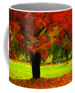 Painted Autumn Coffee Mug by Karol Livote