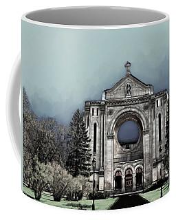 Coffee Mug featuring the digital art Painted Basilica 2 by Teresa Zieba