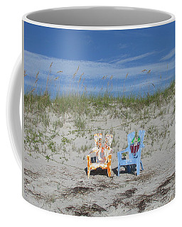 Painted Beach Chairs Coffee Mug