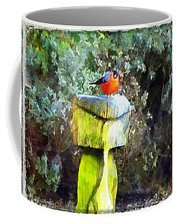 Painted Bullfinch Trio Coffee Mug