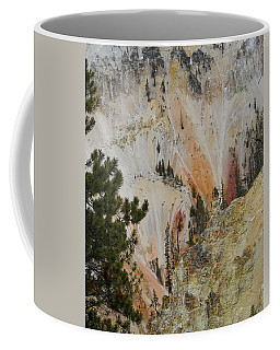 Coffee Mug featuring the photograph Painted Canyon At Lower Falls by Michele Myers