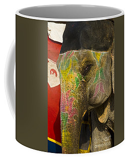 Painted Elephant, India Coffee Mug
