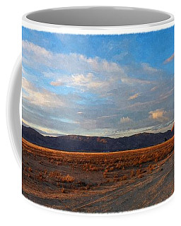 Painted Golden Sunset Coffee Mug