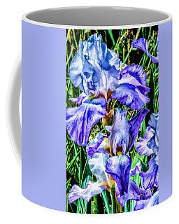 Painted Iris Coffee Mug