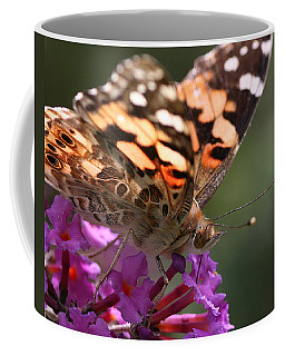 Painted Lady On Butterfly Bush Coffee Mug