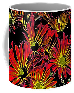 Coffee Mug featuring the photograph Painted Mums by Judy Wolinsky