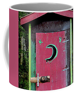 Painted Outhouse Coffee Mug