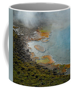 Coffee Mug featuring the photograph Painted Pool Of Yellowstone by Michele Myers