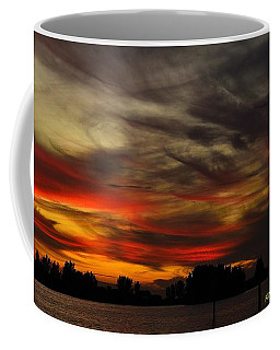 Coffee Mug featuring the photograph Painted Sky by Richard Zentner