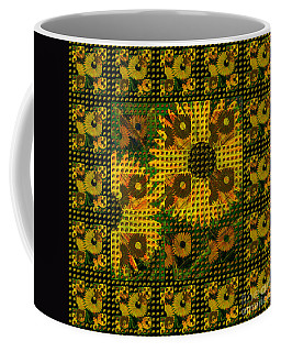 Painted Sunflower Abstract Coffee Mug