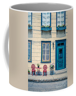 Painted Townhouse In Old Quebec City Coffee Mug