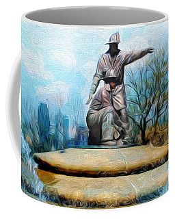 Painterly Firefighters Memorial Fountain  Coffee Mug by Andee Design