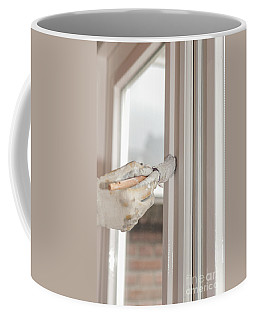 Painting A Window With White Coffee Mug