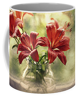 Painting Daylilies On My Window Coffee Mug