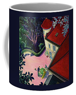 Painting Of A House With A Patio Coffee Mug