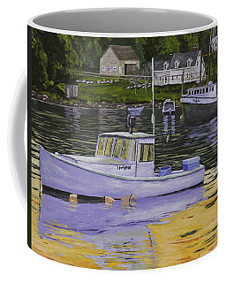 Fishing Boats In Port Clyde Maine Coffee Mug