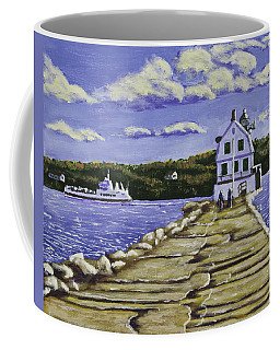 Rockland Breakwater Lighthouse In Maine Coffee Mug