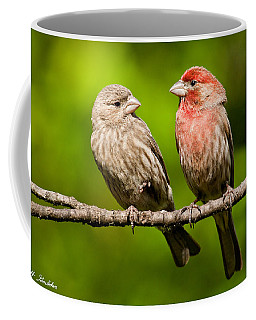 Pair Of House Finches In A Tree Coffee Mug by Jeff Goulden