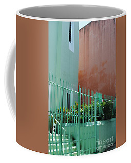 Pale Green With Pink Walls Coffee Mug