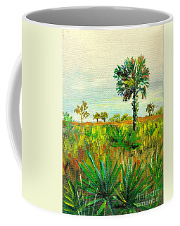 Palm And Palmetto Coffee Mug by Lou Ann Bagnall