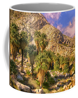Palm Oasis In Late Afternoon Coffee Mug