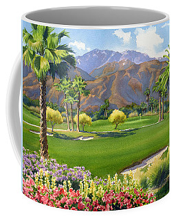 Palm Springs Golf Course With Mt San Jacinto Coffee Mug by Mary Helmreich