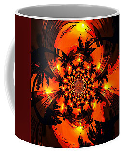 Palm Sun Fractal Coffee Mug