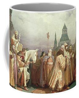 Palm Sunday Procession Under The Reign Of Tsar Alexis Romanov Coffee Mug